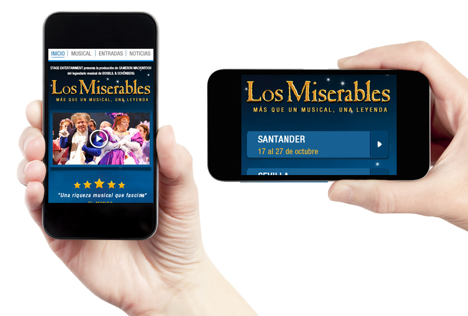 Mobile Website Les Mirables