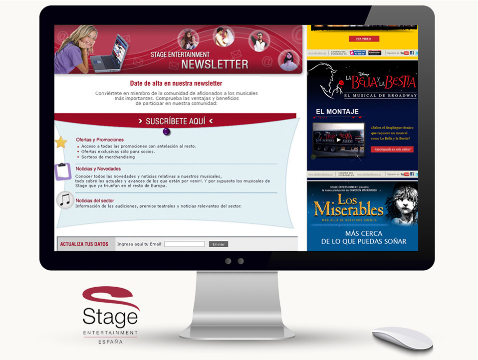 Email Marketing para Stage Entertainment