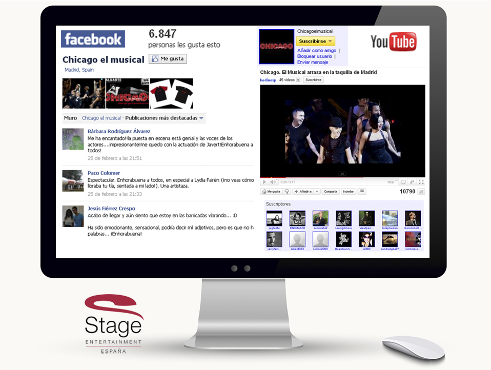 Acciones en redes sociales para Stage Entertainment